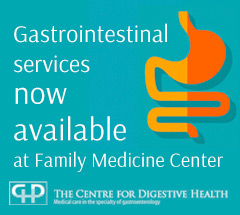 FMC is working with The Centre For Digestive Health to provide gastrointestinal services at FMC